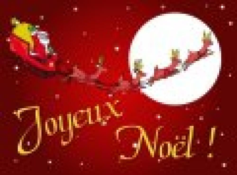 Vacances de Noël du 21 décembre au 9 janvier.