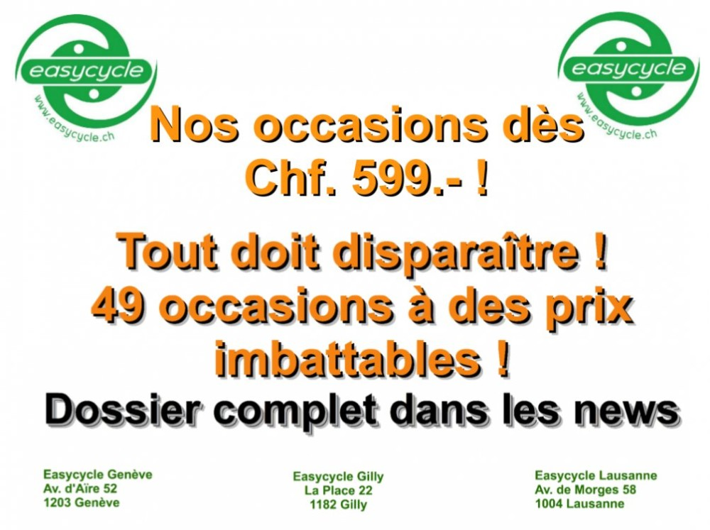 Nos occasions dès Chf. 599.- !