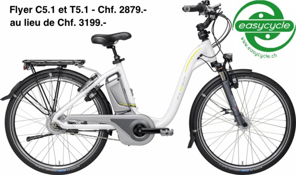 Chf. 2879.- au lieu de Chf. 3199.- Flyer C5.1 et T5.1 en stock chez Easycycle !