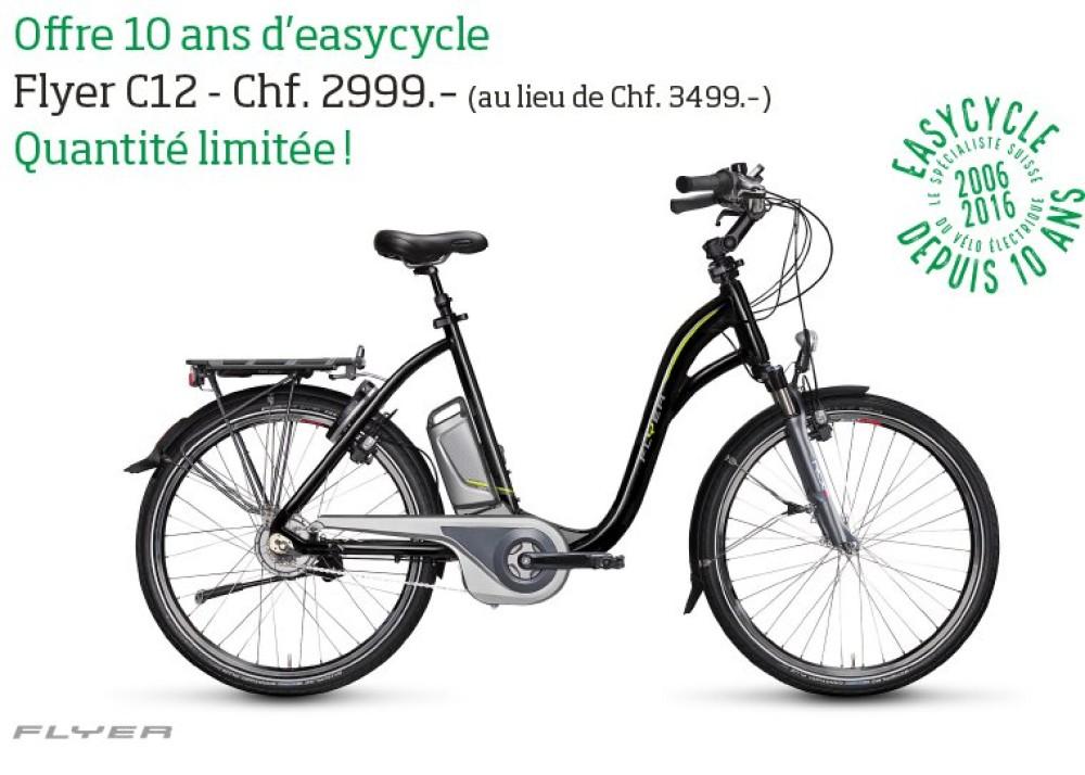 Offre 10 ans d'Easycycle : Flyer C12 à Chf. 2999.- au lieu de Chf. 3499.-