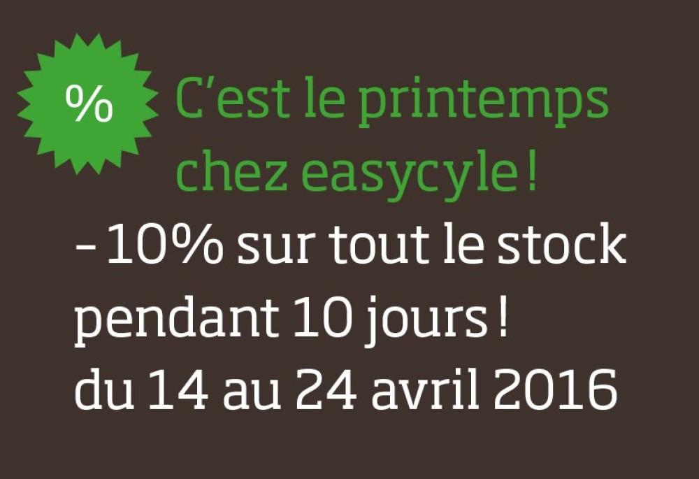 Offres 10 ans d'Easycycle - 10% pendant 10 jours !